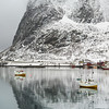 Fishing boats in the sea, Lofoten, Nordland, Norway
