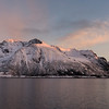 Mountain at seaside during sunset, Lofoten, Nordland, Norway