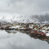 Fishing village at waterfront, Lofoten, Nordland, Norway