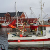Fishing boats in sea, Henningsvaer, Austvagoy, Lofoten, Nordland, Norway
