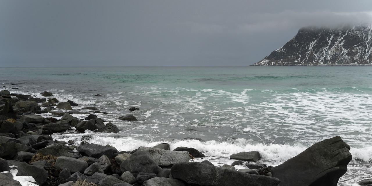 Rocks on coast, Lofoten, Nordland, Norway