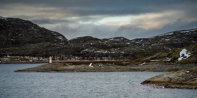 Lighthouse on coast, Bodo, Nordland, Norway