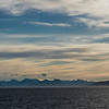 Sea with mountain range in the background, Norway