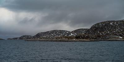 Scenic view of coastline, Bodo, Nordland, Norway