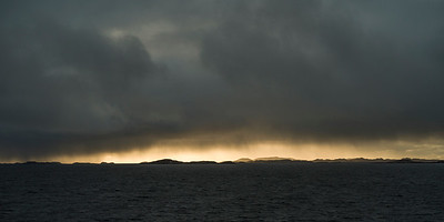 View of sea against cloudy sky during sunset, Bodo, Nordland, Norway