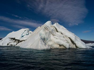 Icebergs floating in the Labrador Sea, Nuuk Fjord, Sermersooq, Greenland