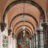 Architectural detail of corridor, University School of Fine Arts, San Miguel de Allende, Guanajuato, Mexico