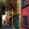 Houses along a street, San Miguel de Allende, Guanajuato, Mexico