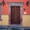 Wooden doorway of a house, San Miguel de Allende, Guanajuato, Mexico