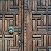 Detail of carved wooden door, San Miguel de Allende, Guanajuato, Mexico