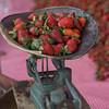Strawberries on traditional set of scales, Arcos de San Miguel, San Miguel de Allende, Guanajuato, Mexico