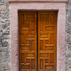 Wooden Door at the entrance to a house, Zona Centro, San Miguel de Allende, Guanajuato, Mexico