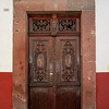 Wooden doorway of a building, San Miguel de Allende, Guanajuato, Mexico