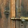 Lock and latch on a door, Zona Centro, San Miguel de Allende, Guanajuato, Mexico