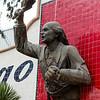 Statue on wall, Centro, Dolores Hidalgo, Guanajuato, Mexico
