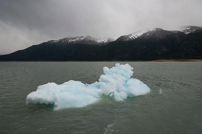 Iceberg in Lake Argentino, Perito Moreno Glacier, Los Glaciares National Park, Santa Cruz Province, Patagonia, Argentina