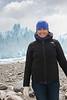Smiling woman on Perito Moreno Glacier, Los Glaciares National Park, Santa Cruz Province, Patagonia, Argentina