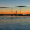 View of infinity pool at dusk, Victory Park, Dallas, Texas, USA