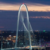 Margaret Hunt Hill Bridge at dusk, Victory Park, Dallas, Texas, USA