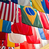 National flags of the countries at Southern Methodist University, Dallas, Texas, USA