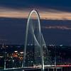 Margaret Hunt Hill Bridge at night, Dallas, Texas, USA