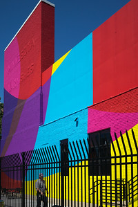 Facade of a colorful building, Minneapolis, Hennepin County, Minnesota, USA