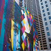 Mural by buildings at Downtown Minneapolis, Hennepin County, Minnesota, USA