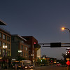 View of city street at night, Minneapolis, Hennepin County, Minnesota, USA