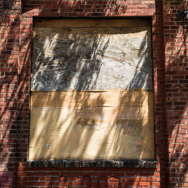 Boarded Up Window of a building, Minneapolis, Hennepin County, Minnesota, USA