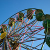 Low angle view of ferris wheel at Betty Danger's Country Club, Minneapolis, Hennepin County, Minnesota, USA