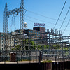 Electricity substation in Minneapolis, Hennepin County, Minnesota, USA