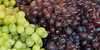 Close-up of grapes for sale at a market stall, Pike Place Market, Seattle, Washington State, USA