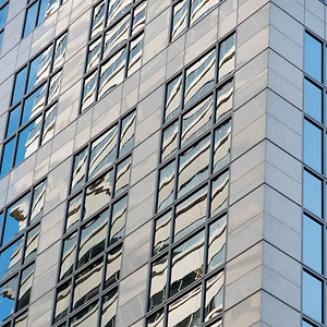 Architectural detail of a modern building, Seattle, Washington State, USA