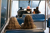 Passengers traveling in a monorail, Seattle Center, Seattle, Washington State, USA