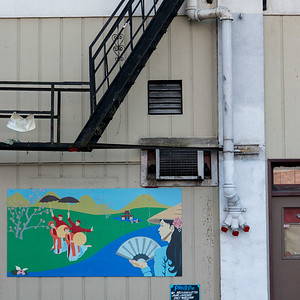 Painting on the wall of a building, Seattle, Washington State, USA