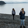 Tourists at the lakeside, Deception Pass State Park, Oak Harbor, Washington State, USA