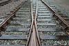 Close-up of railroad track, Northwest Railway Museum, Snoqualmie, Washington State, USA