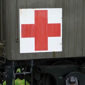 US Army Medical Service rail car at Northwest Railway Museum, Snoqualmie, Washington State, USA