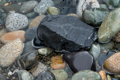 Close-up of pebbles in water, Deception Pass State Park, Oak Harbor, Washington State, USA