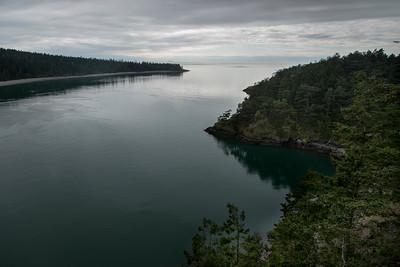 High angle view of a lake, Deception Pass State Park, Oak Harbor, Washington State, USA