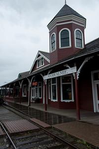 Snoqualmie Depot at Northwest Railway Museum, Snoqualmie, Washington State, USA