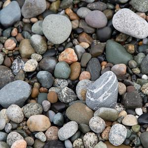 Close-up of pebbles, Deception Pass State Park, Oak Harbor, Washington State, USA