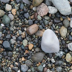 Close-up of pebbles, Deception Pass State Park, Washington State, USA