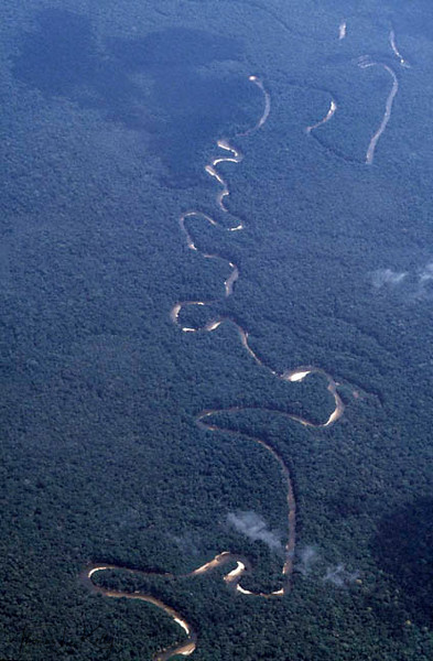 Overview of Columbian Amazon. Makuna, Vaupes Basin, Eastern Colombia Amazon.