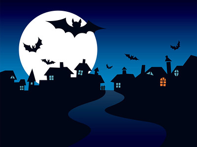 Halloween town, perfect illustration for Halloween holiday