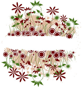 Grunge floral background, vector illustration