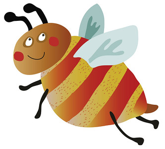 illustration of a Happy bee