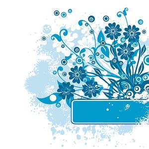 Grunge floral background, vector illustration