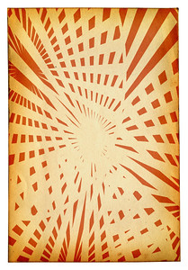 retro styled background with geometric pattern in orange tones isolated on pure white background