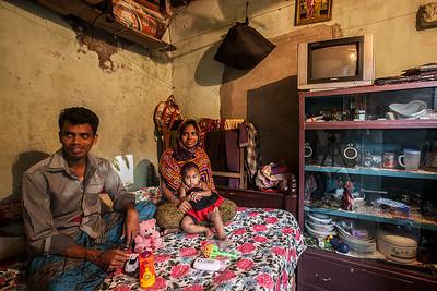 Slum in Mirour. Dhaka, Bangladesh.